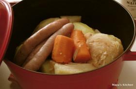 簡単おまかせ、丸ごと野菜とキャベツ煮込み