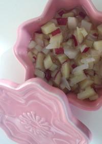 7~8ヶ月離乳食 薩摩芋と林檎の甘煮