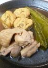 鶏とがんも♪万願寺唐辛子のクタクタ煮