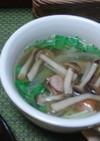 簡単!水菜ときのこのスープ