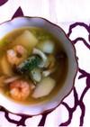 かぶ•エビ•しめじ☆バターコンソメスープ