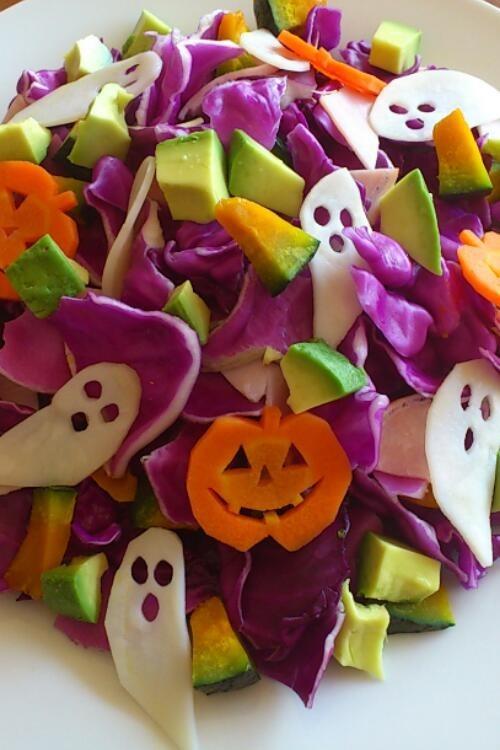★紫キャベツのハロウィンサラダ★