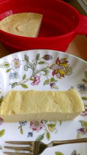 レンジで豆腐の濃厚ねっとりチーズケーキの写真