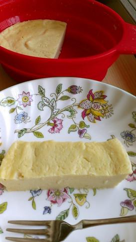 レンジで豆腐の濃厚ねっとりチーズケーキ