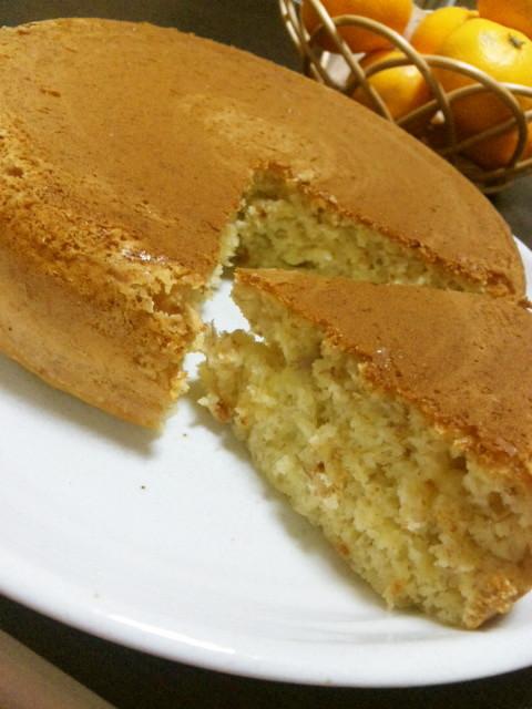 炊飯器でバナナケーキ~ノンオイルで♪