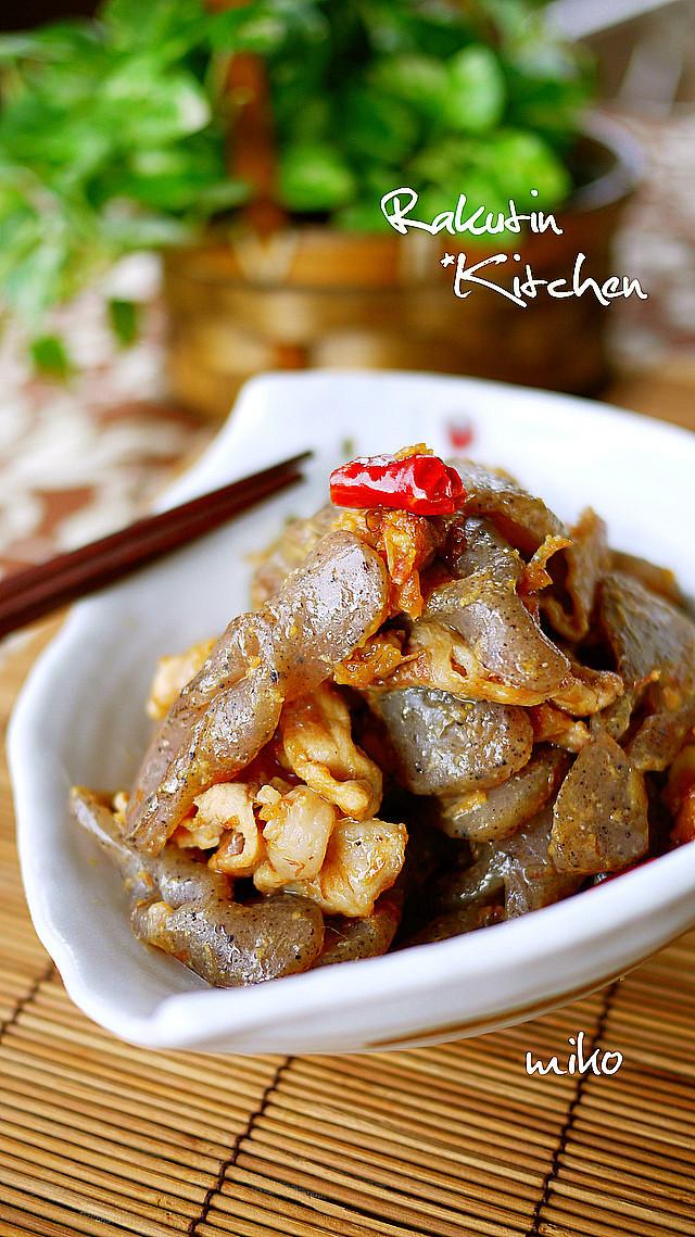 懐かしい味♪蒟蒻と豚肉のかつお味噌炒め