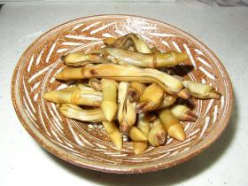 マテ貝のしょうゆ焼き