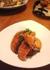 鮭の米粉から揚げ~柚子胡椒酢で~♪
