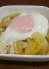 白菜と豚肉の卵とじ。
