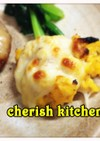 スクランブルエッグのチーズ焼き