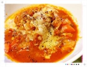 ホクホク!丸ごとニンニクと鶏のトマト煮