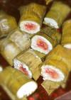 バナナと餅米のおやつ@カンボジア