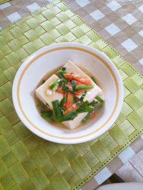 えのき氷で豆腐のニラあんかけ風
