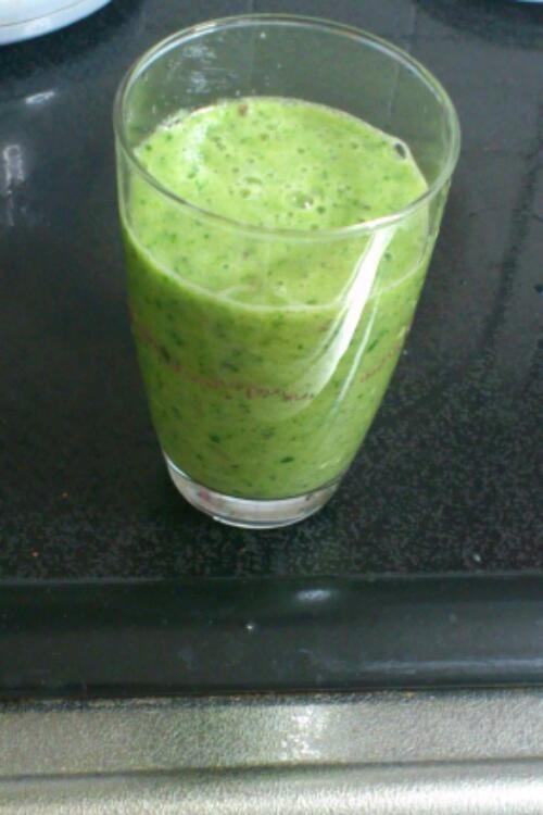 小松菜のグリーンスムージー