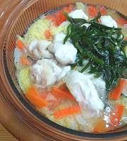 ニラで元気!白菜と鶏胸肉のとろりん鍋の写真