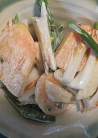 ☆嬉しい!ヤーコン、柿、竹輪のサラダ☆