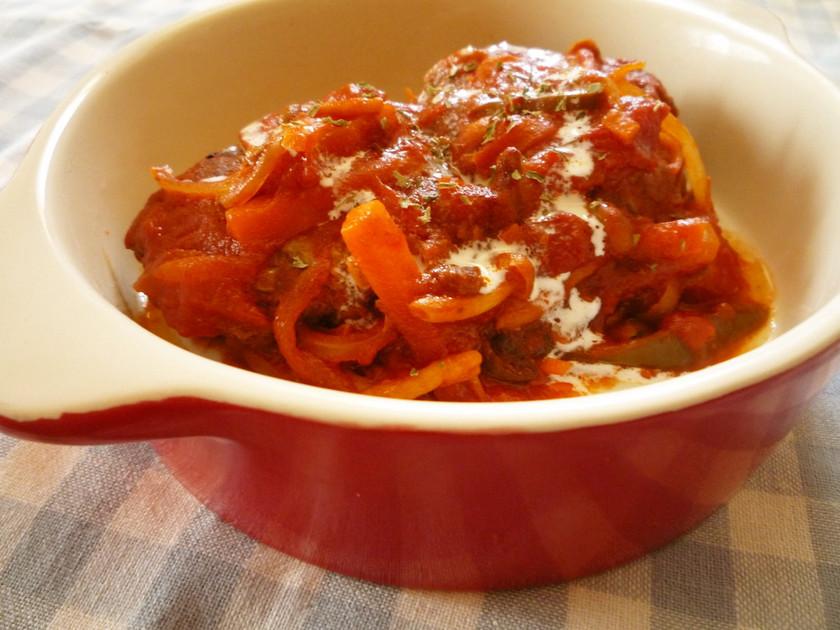 特別な日は✿野菜旨みトマト煮込ハンバーグ