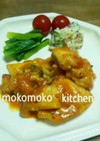 チキンのチーズトマトソース煮込み