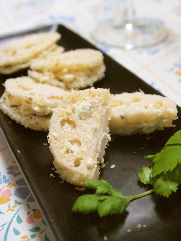 クリスピー♪蓮根のクリームチーズサンド