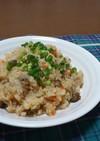 炊飯器★鶏ときのこの炊き込み和風ピラフ