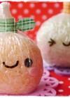 ラップ付きおにぎり☆りんごちゃんキャラ弁