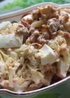 キャベツとさけ缶とゆで卵のサラダ