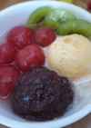 野菜スイーツ! トマトのクリームあんみつ