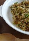 納豆・葱・胡麻チャーハン♬キムチの素入り