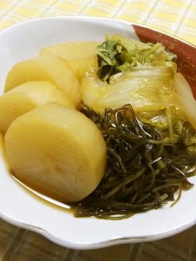 大根と白菜と刻み昆布の煮物