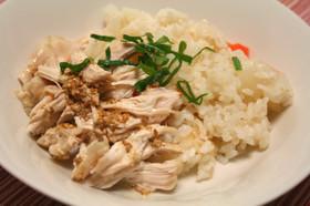炊飯器1つでだいこん飯と蒸し鶏