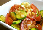 トマトとズッキーニの中華サラダ♪