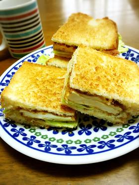 ダイエット中のカツサンド風☆豆腐サンド