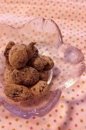 甘じょっぱいきな粉豆~黒豆茶の出がらしで
