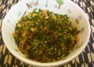 大根の葉っぱと生姜の炒め煮