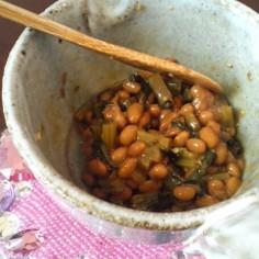 大根の葉入り納豆