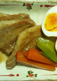 豚バラとゆで卵の醤油煮