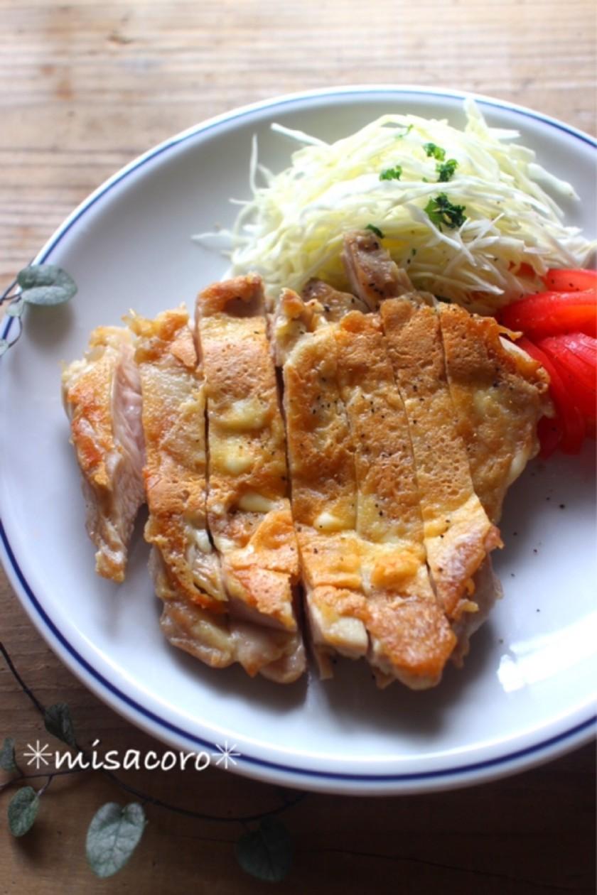 m鶏のカリカリチーズ焼き
