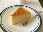 ふわふわ スフレチーズケーキの写真