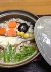 土鍋で作る鱈の炊き込み