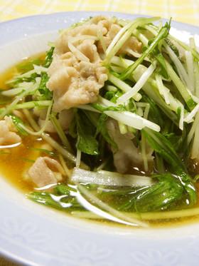 超簡単♪豚肉と水菜のハリハリ煮