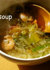 野菜サラダで☆リメイクスープ