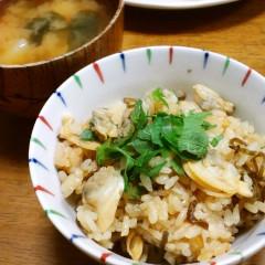 あさりと塩昆布の炊き込みご飯