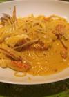 濃厚渡り蟹のクリームパスタ