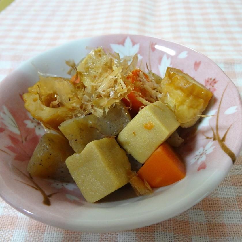 お手軽~♪こんにゃくと高野豆腐の煮物