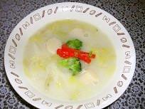 宮城旬野菜。仙台白菜とホタテのクリーム煮
