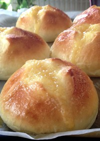 ソントンカスタードクリームでおやつパン!