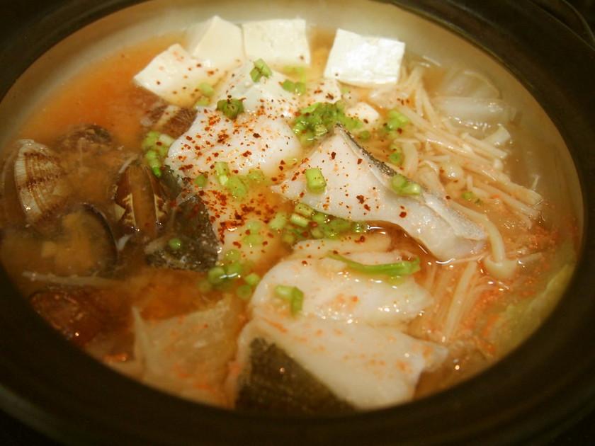 簡単スピード小鍋★鱈と豆腐の明太チゲ