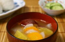 残り野菜で*大根とさつま芋のお汁