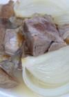 豚すね肉と玉ねぎの白ワイン煮込み