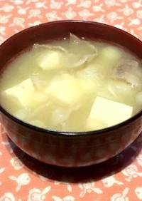 薩摩汁(シンプル温か白味噌とん汁)